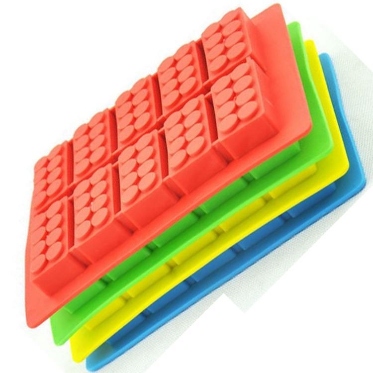 Blc-018 10 Legos Silicone Glace Moules Briques De Construction ...