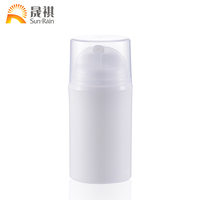Top sale latest design excellent quality white color plastic airless bottle