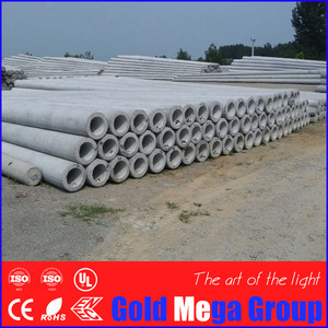 10m high 190/323mm diameter Pre-stressed Concrete Electric Telegraph Pole for Sale