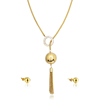 Latest Arrival 22K Gold Necklace Set Tassel Indian Bridal Diamond Jewelry Set
