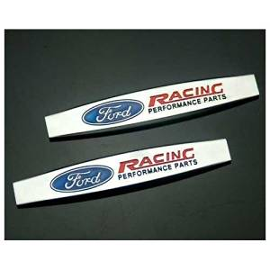 2pcs ST Grille Emblems Red Back Sticker Replacement for Ford Focus 2 Focus 3 FIESTA F-150 Kuga FUSION ESCAPE EDGE Metal Decal Badge
