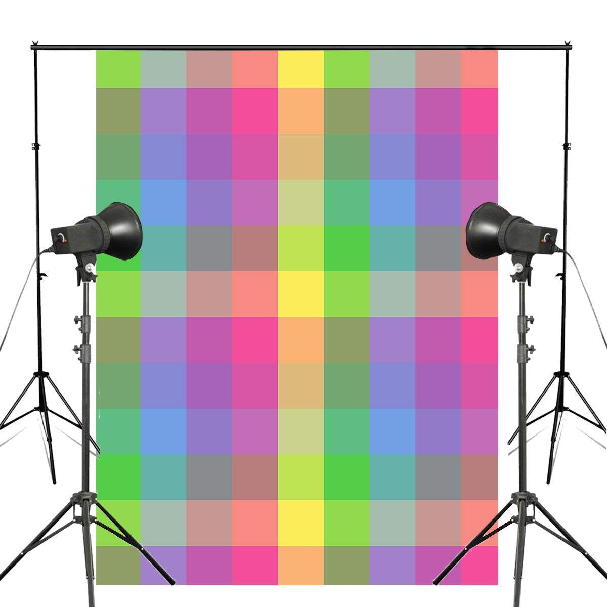 ERTIANANG 150x220cm Cute Colorful Checkered Photography Backdrop Abstract Checkered Background Kids Photo Studio Backdrop Wall
