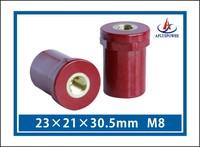 UL approval Busbar Support Insulators Standoff Insulator DJY-15, M8*10.5, Red PF, custom customizd accepted