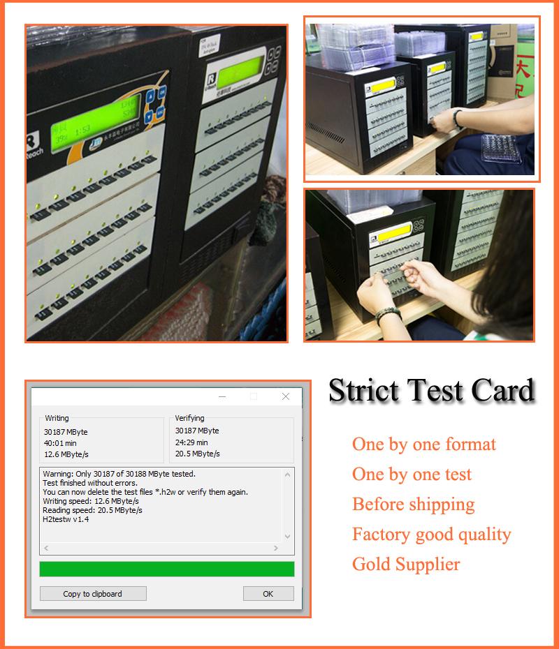 100% original U3 quality sd card 128 gb for sandisk 128gb