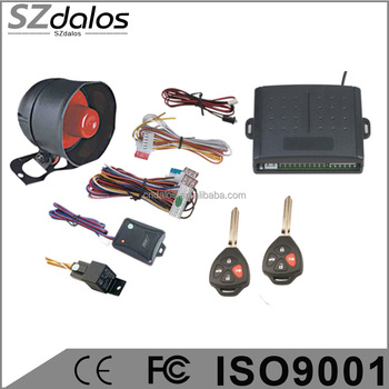 DC 12V specialized truck car alarm system with shock sensor,one way car alarm system for Africa