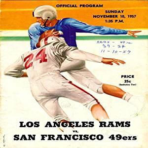 Los Angeles Rams vs. San Francisco 49ers Unsigned 1957 Game Program
