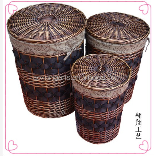 Hot Sale Wicker Laundry Basket/Wicker Storage Basket/Laundry Hamper.