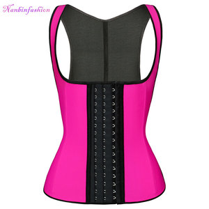 Wholesale body shaper slimming steel boned latex waist trainer vest corset