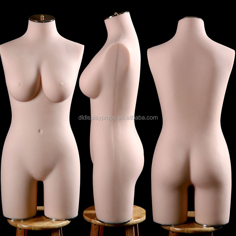 80D Charming half body lady/female Silicone Mannequins for lingerie tailoring big bust torso dummy