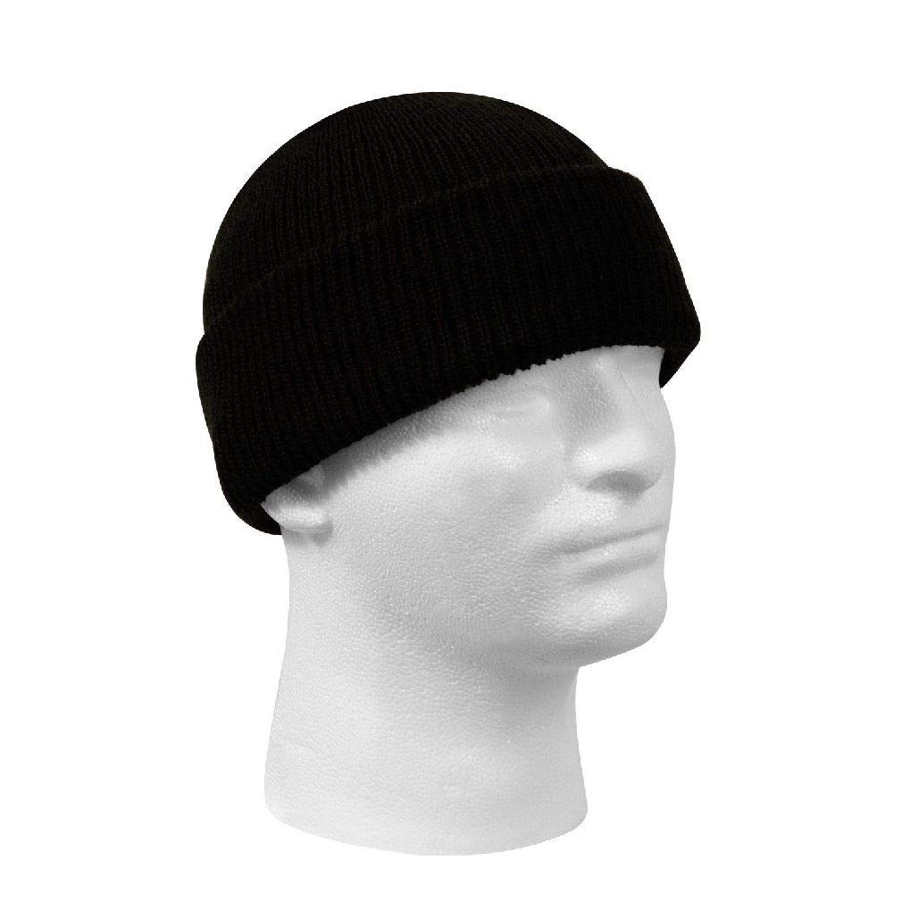 1900247f922 Get Quotations · New Genuine Black Winter Beanie Hat Wool Watch Cap USA Made