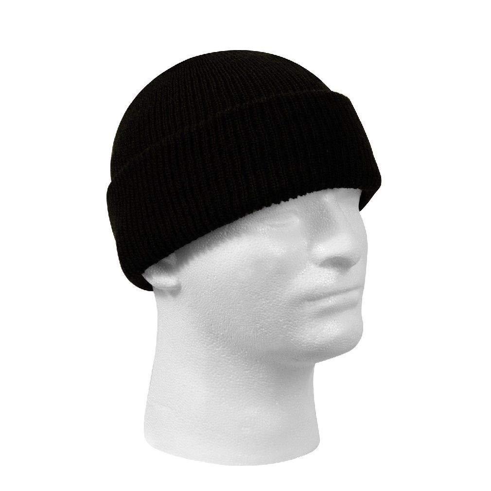 b8539ef4997 Get Quotations · New Genuine Black Winter Beanie Hat Wool Watch Cap USA Made