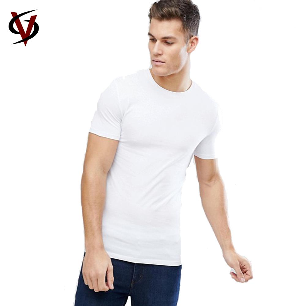 cb7a79a9851f Wholesale Mens Pima Cotton Slim Fit Crew Neck Custom Printed T Shirt ...