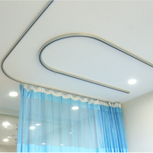 L Shaped Aluminum Flexible Sliding Medical Curtain Rail