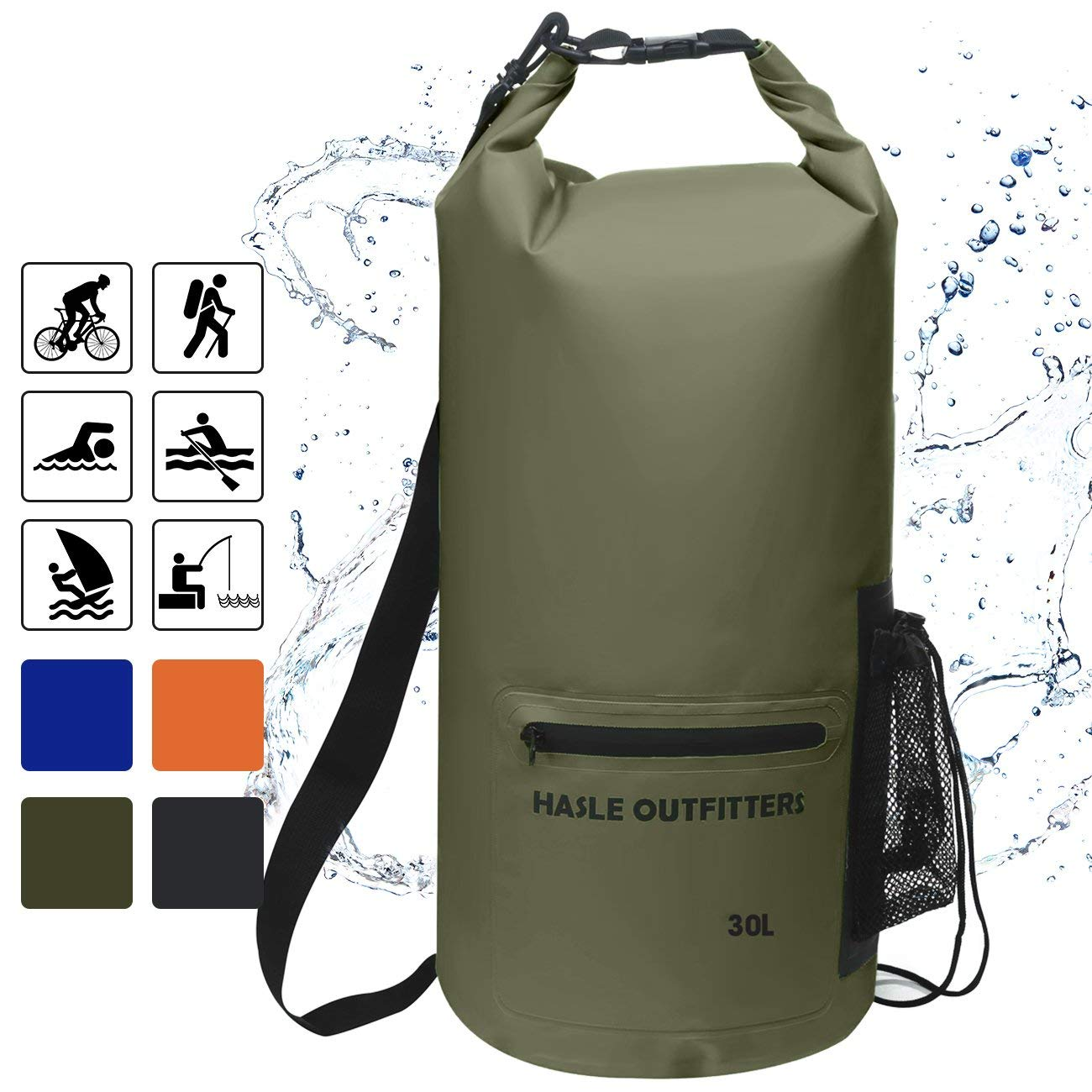 5e71e373922d Get Quotations · HASLE OUTFITTERS Waterproof Dry Bag-10L 20L 30L Roll Top  Compression Sack with