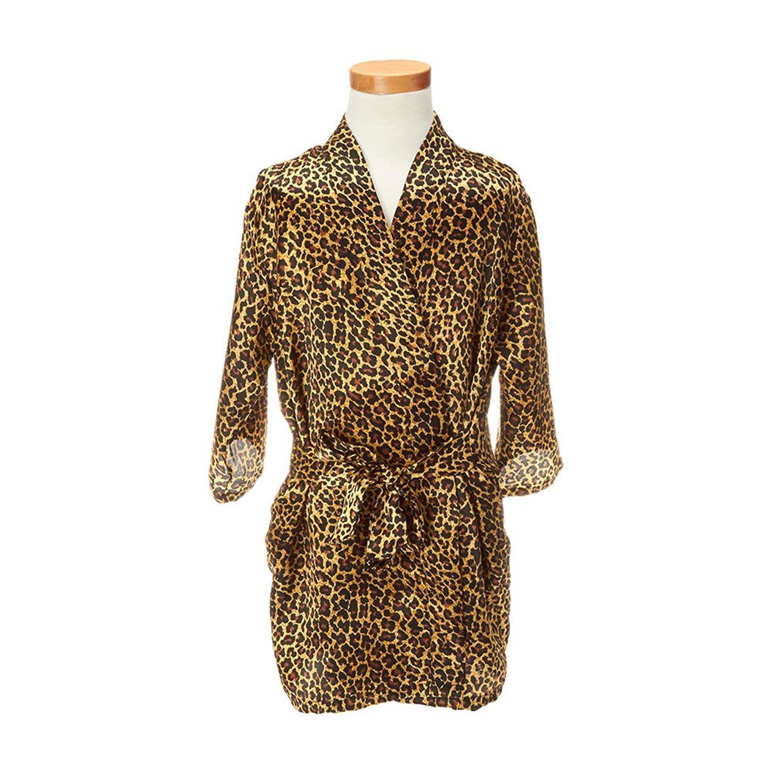 6492b5f3d7c Get Quotations · Claire s Girl s Leopard Print Girl s Robe