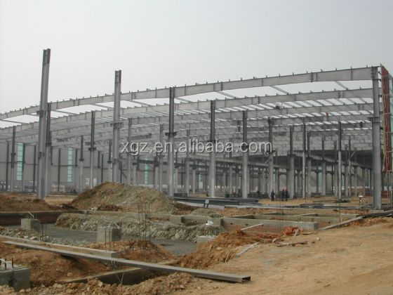 galvanized warehouse structural steel beams and columns