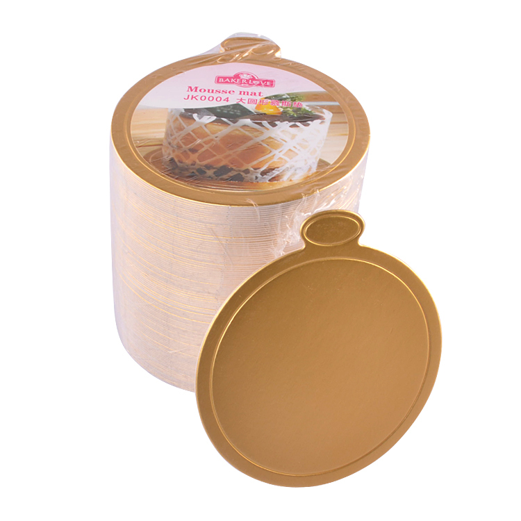 JK0004 Gloden Grande Rodada Bandeja Base do Papel de Placa de Bolo Mousse