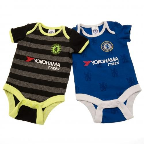 b16435a9e12 Get Quotations · Chelsea FC Authentic EPL Baby Onesies 2 Pack new for 2017  (3-6 MONTHS