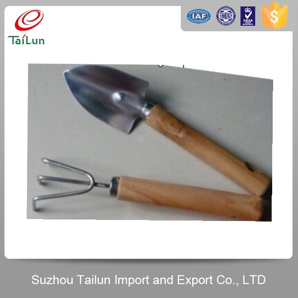Customized Stainless Steel 2PCS GardenTool Set with Shovel and Rake