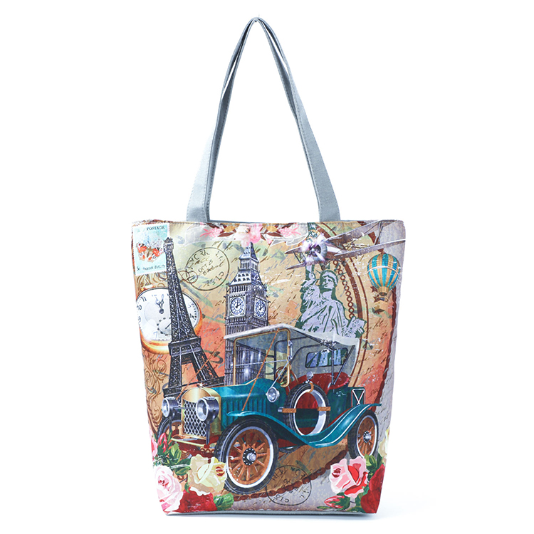 Large canvas tote bag stylish handbags for women lady