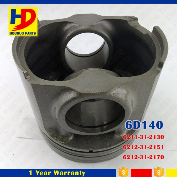 Piston 6211-31-2130 6212-31-2151 6212-31-2170 For 6D140 Diesel Engine Piston