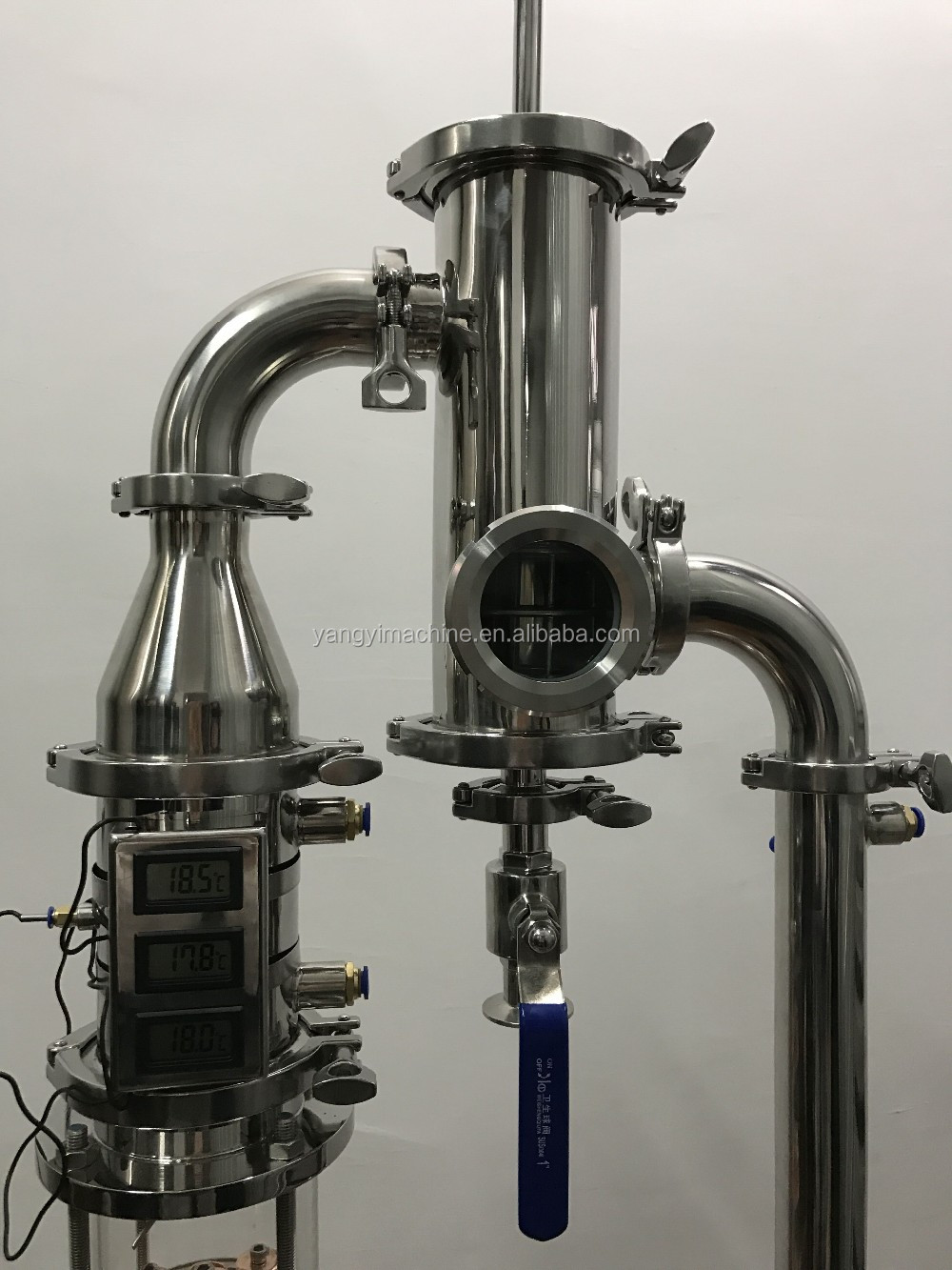 New Type Glass Distillation Column Pot Still Alcohol