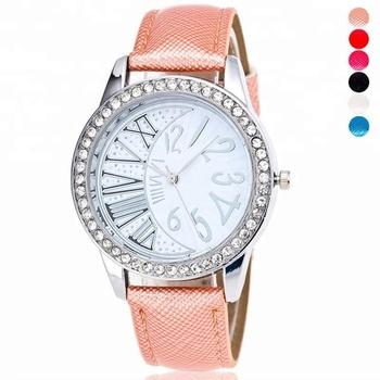 f76824cf209 Tryme 2018 Hot Marca Relógios Mulheres Senhoras Vestido de Moda Casual  Pulseira De Couro De Cristal