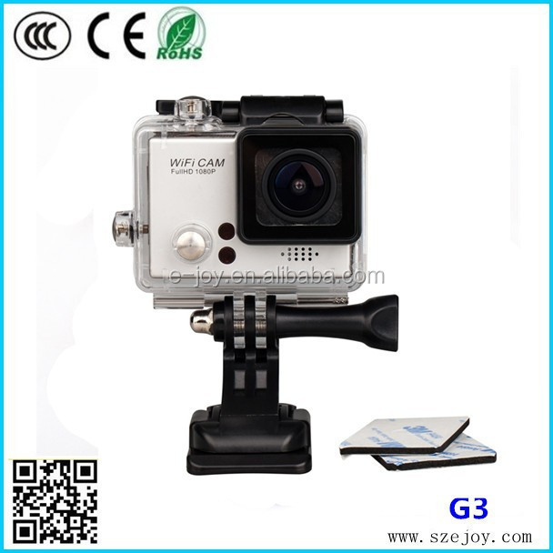 Full HD 1080p@60fps G3 sj4000 newest wifi remote control waterproof hd 1080p helmet sport action camera