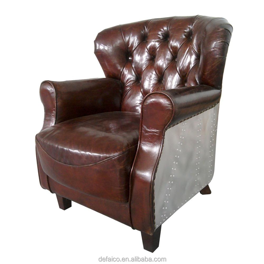 Aviator Aluminum Back Professor Leather Armchair - Buy ...