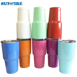 Wholesale Double Wall Vacuum Insulated 30 oz Pantone Powder Coated Stainless Steel Tumbler