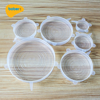 Silicone Stretch Lids 6 Pack Reusable Food Silicone Covers