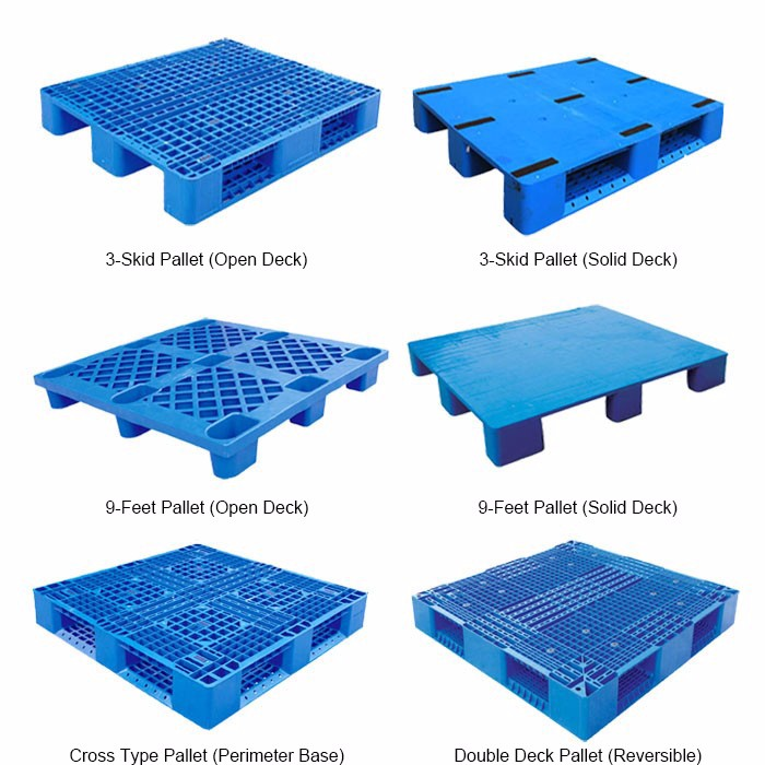 Promotion Warehouse Storage Customize  Heavy Duty Euro Virgin HDPE Plastic Pallet Prices