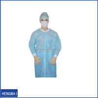 Non Woven Vistor Coat Disposable Lab Coat with Elastic Cuff
