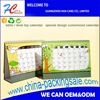 2017 business desk standing up promotion lovely children table calendar yearly, monthly, daily weekly china printing service