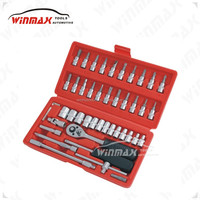 WINMAX 46pc 1/4 inch High Quality Socket bit Ratchet Set WT11924