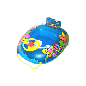 Hot sell Baby Swimming Boat Float Raft Inflatable With Sunshade For Pool