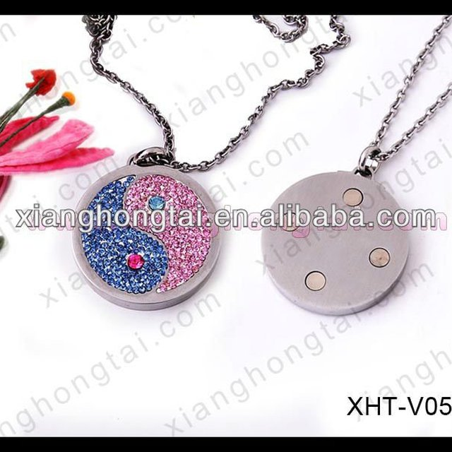 Buy cheap china magnetic stone pendants products find china yin yang symbol magnetic pendant necklace cz stone inlay 10000 gauss magnet aloadofball Images