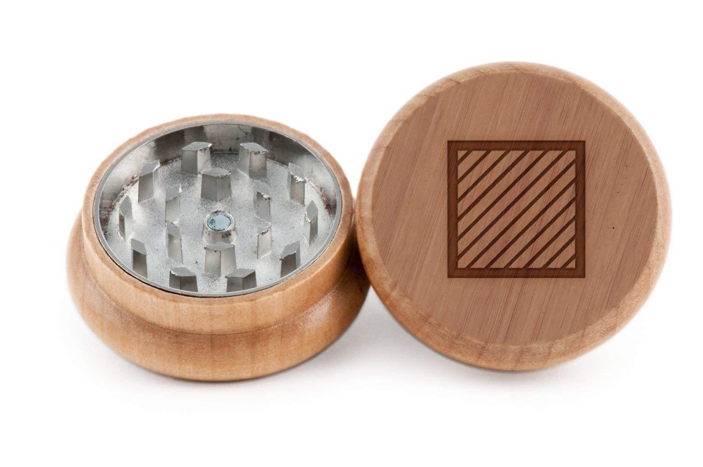 GRINDCANDY Spice And Herb Grinder - Laser Etched Stripes Design - Manual Oak Pepper Grinder
