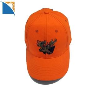c2845fa08b9 Men s Blaze Orange Hunting Cap Premium 6 Panel Embroidery Sports Cap canvas  baseball cap