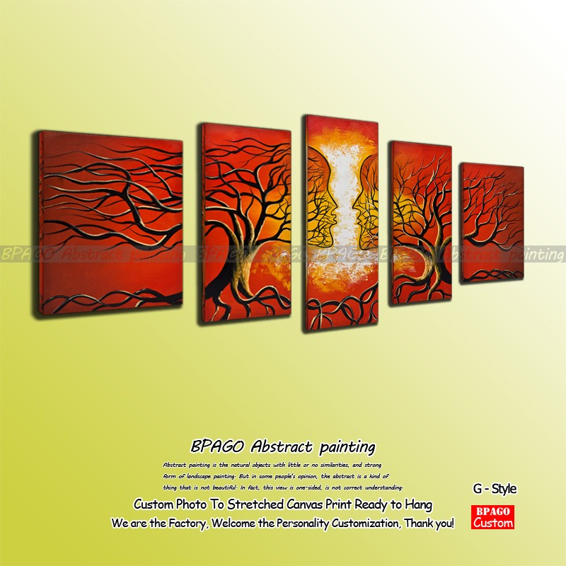 Abstract hotel lobby signs nature paintings for sale