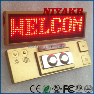 USB Rechargeable Programmable Electronic Digital Scrolling Name Board LED Lighting