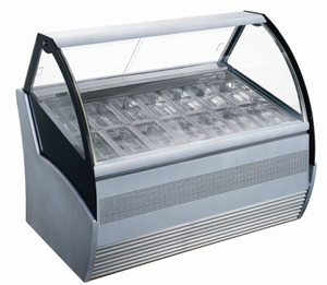 QD-BB-12(1/3) Stand ice cream showcase /gelato display refrigerated cabinet