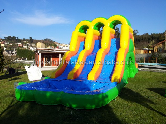 Giant pvc Inflatable water slide with swimming pool for sale, Commercial inflatable slide for Business