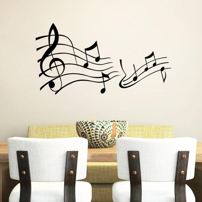 MUSIC Wall Say Quote Word Lettering Art Vinyl Sticker