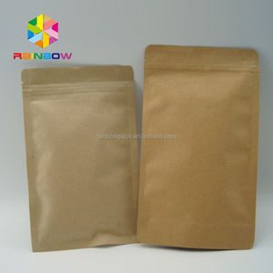 Hot sales customized stand up fiber kraft paper quinoa packing bags