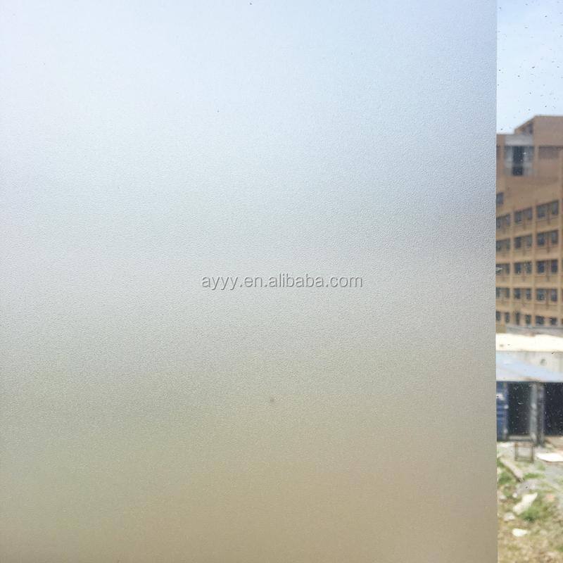 SA-8001 Removable No Glue Static Electricity Decoration Frosted Glass Window Film decorative static cling window film