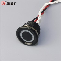 22mm Concave Button Ring Illuminated Piezo Switch IP68