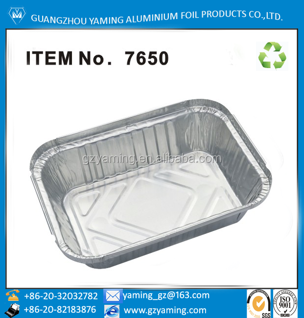 packaging boxes cookware food use take away aluminum foil container with lid No. 7650