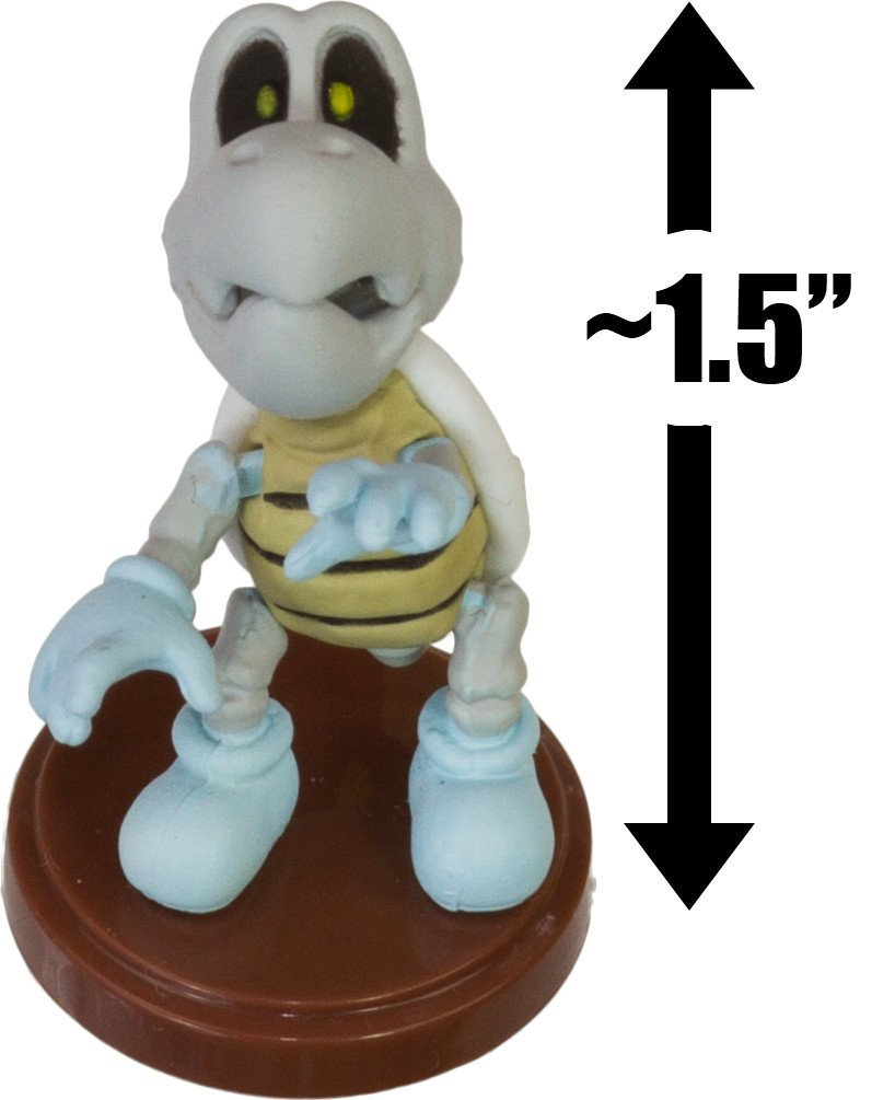 "Dry Bones: ~1.5"" New Super Mario Bros. Wii Choco Egg Mini Figure Series [NO CANDY] (Japanese Import)"