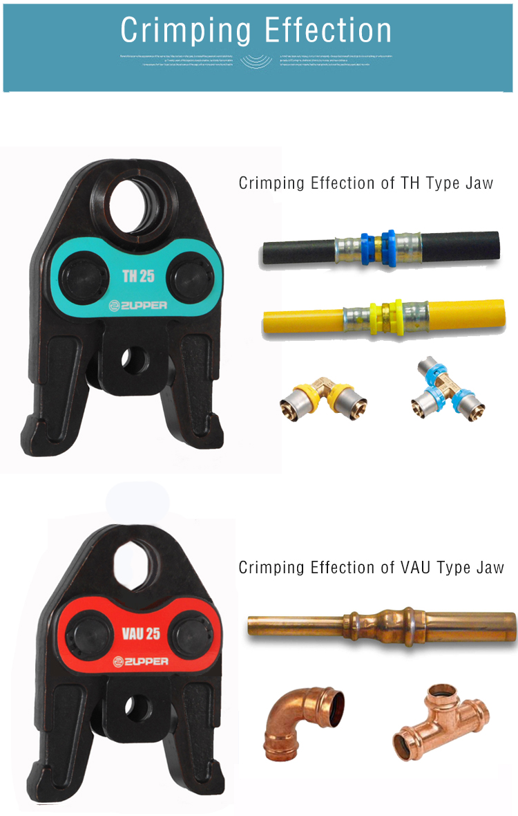 Zupper Battery Powered Pipe Tube Crimper Copper Press Tool Pex Tube Crimper plumbing tool